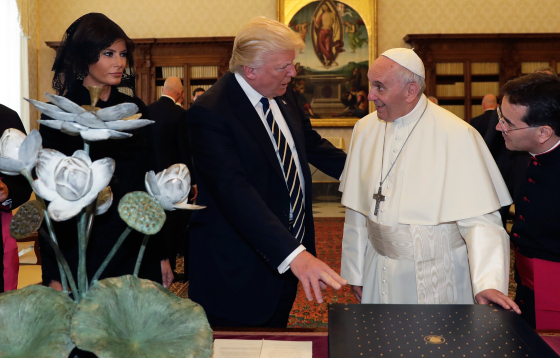 Mainstream Media Says The Pope Refuses to Smile with Trump
