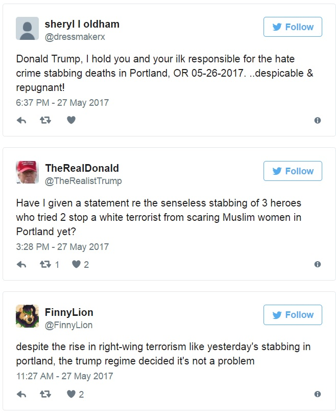 Portland Stabber Is NOT a Trump Supporter