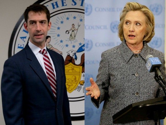 Senator Cotton Blasts Hillary For Making Excuses For Losing the Election