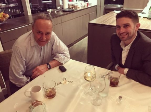 Senator Chuck Schumer Meets Up with George Soros' Son