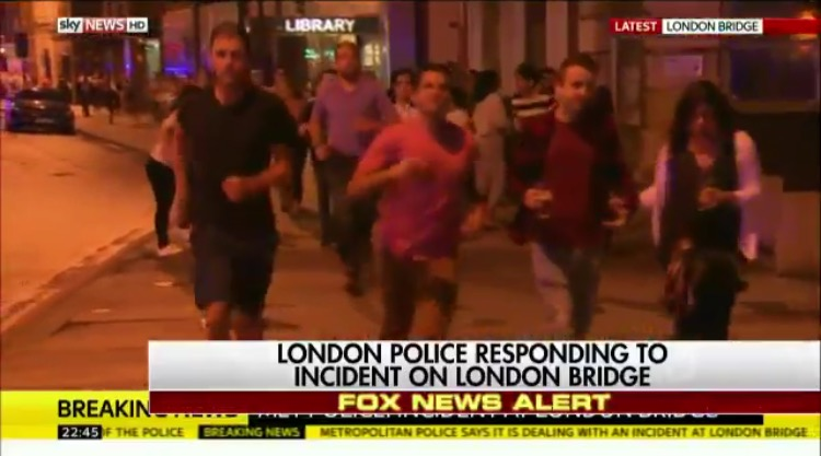 Unarmed London Police Run Away