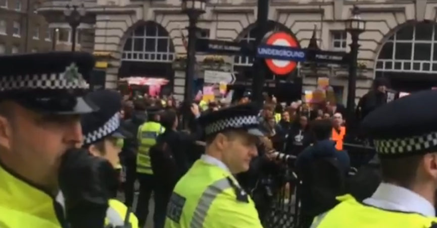 Londoners chant Donald Trump we love you