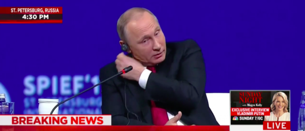 Putin Rips Out Earpiece , Megyn Kelly, Russian interference, St. Petersburg