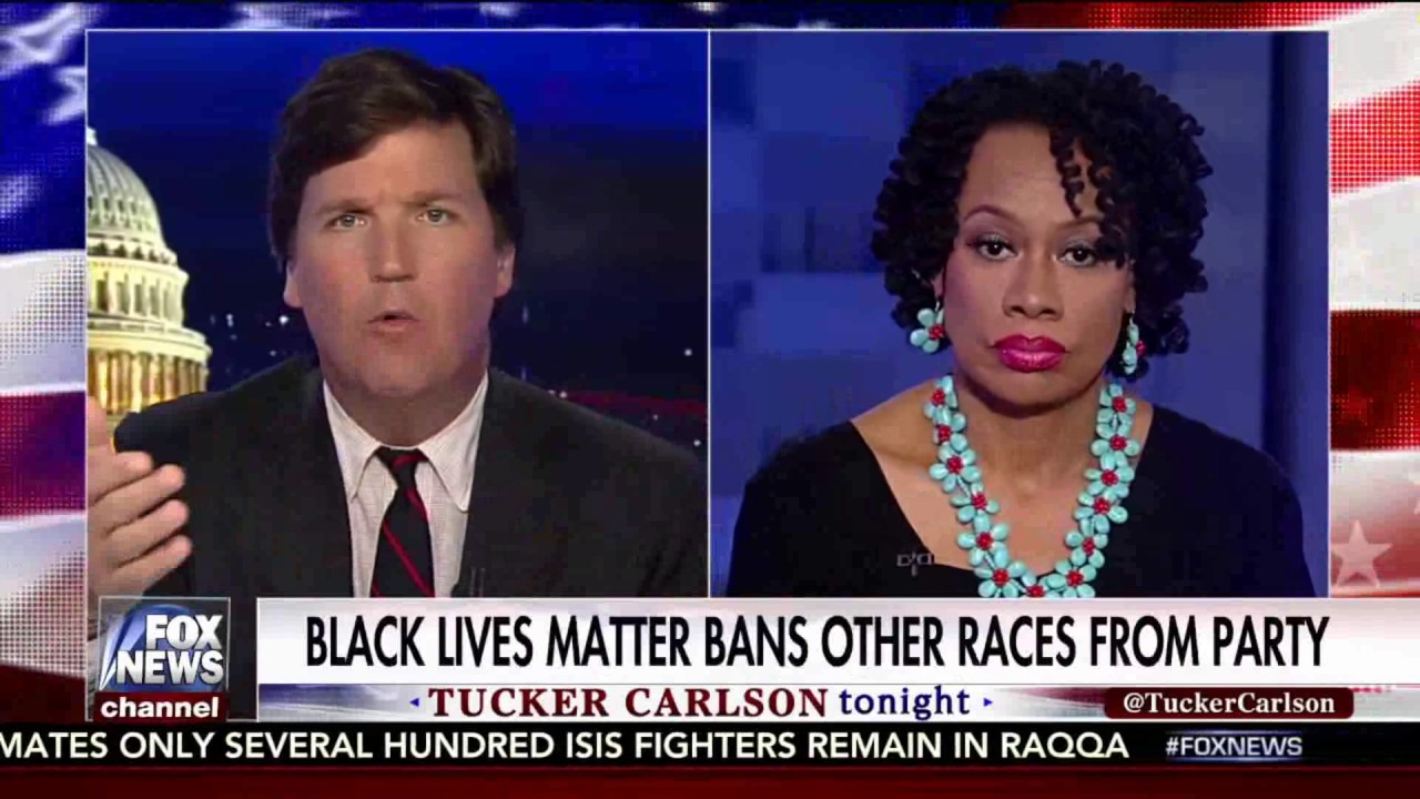 Tucker Carlson Takes on a Supporter of a 'Blacks Only' Memorial Day Party