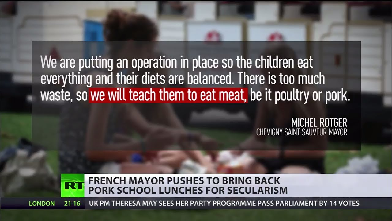 French Mayor Bans Pork-Free School Lunches