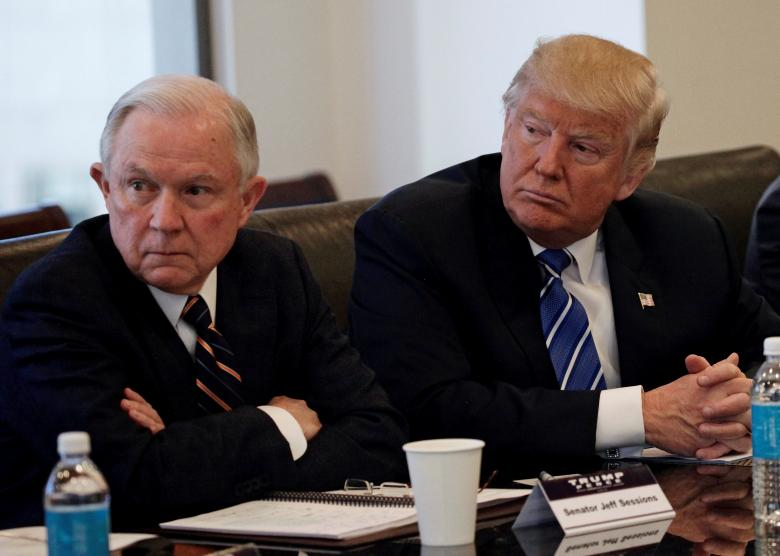 President Donald Trump, Attorney General Jeff Sessions, Twitter