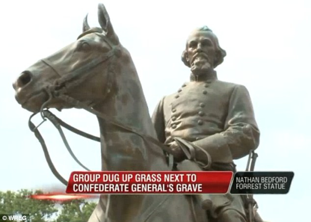 Memphis protesters, Nathan Bedford Forrest