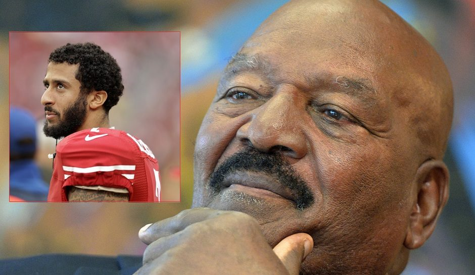 Colin Kaepernick, Jim Brown, Hall of Famer, Kneel