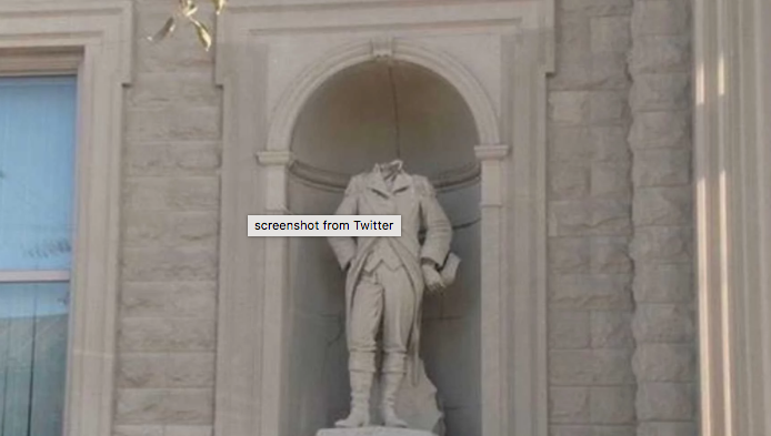 Revolutionary War Hero Statue Decapitated, Colonel William Crawford decapitated