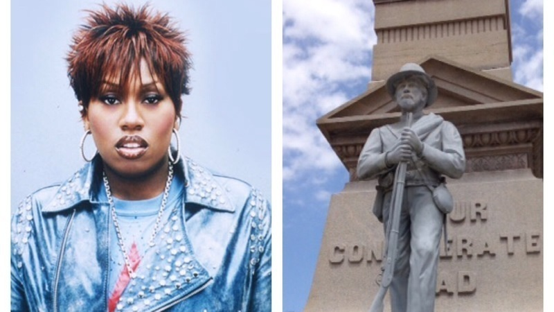 "Virginia Town's residents, Missy ""Misdemeanor"" Elliott, Confederate Statues"