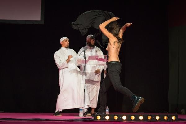 Topless Feminist Protesters Storm Muslim Conference