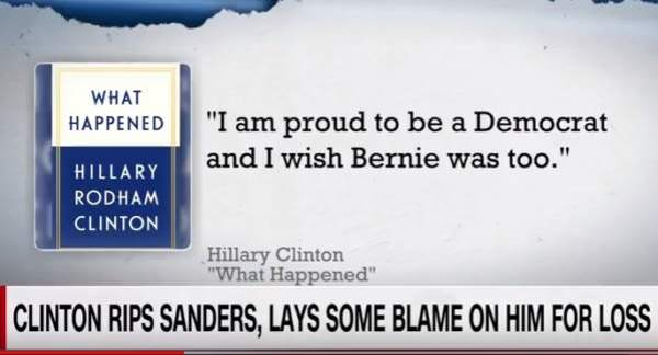 Hillary Rips Bernie In New Book, I am proud to be a democrat