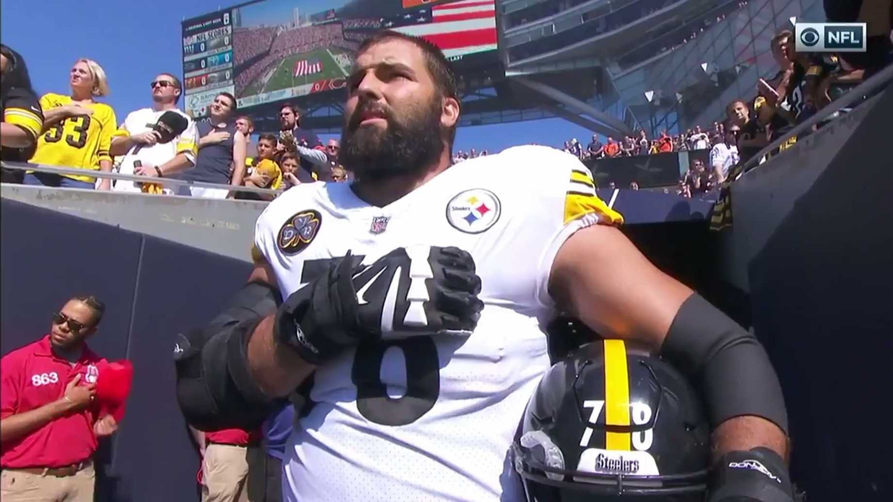 Former Army Ranger Alejandro Villanueva Shows The Steelers How To Be An American - VIDEO