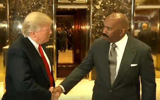 Comedian Steve Harvey Talks About The Racist Backlash He Received For Meeting With Trump