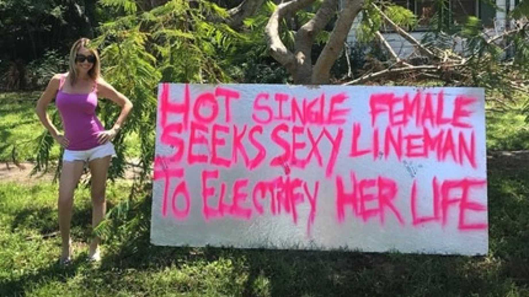 Sexy Florida Woman Makes Plea For Electricity