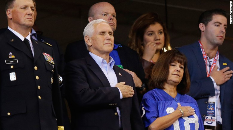 VP Mike Pence Walks Out Of Colts Game