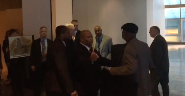 Jerry Jones Confronted By Protesters Outside NFL Meeting