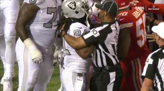 Anthem Protester Marshawn Lynch Ejected For Shoving Referee