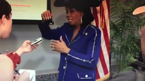 Rep. Frederica Wilson Laughs At General Kelly