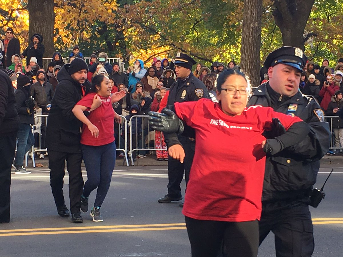 Illegal Alien Protesters Block Macy's Thanksgiving Day Parade