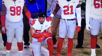One NFL Player Kneeled During The Anthem On Thanksgiving