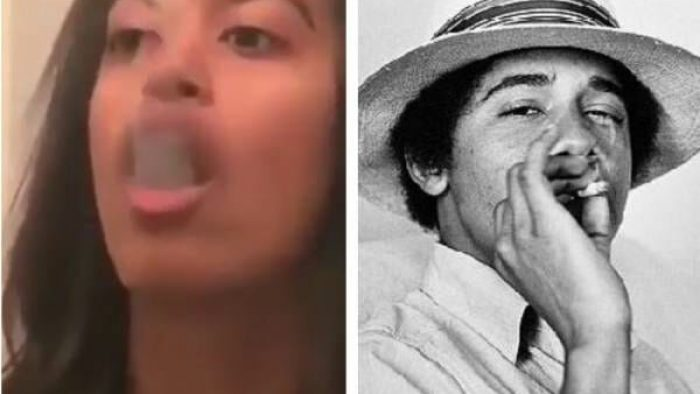 Video Surfaces Of Malia Obama Blowing Smoke Rings