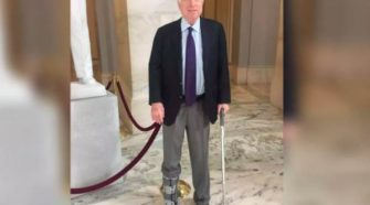 John McCain Switches Feet For His Walking Boot