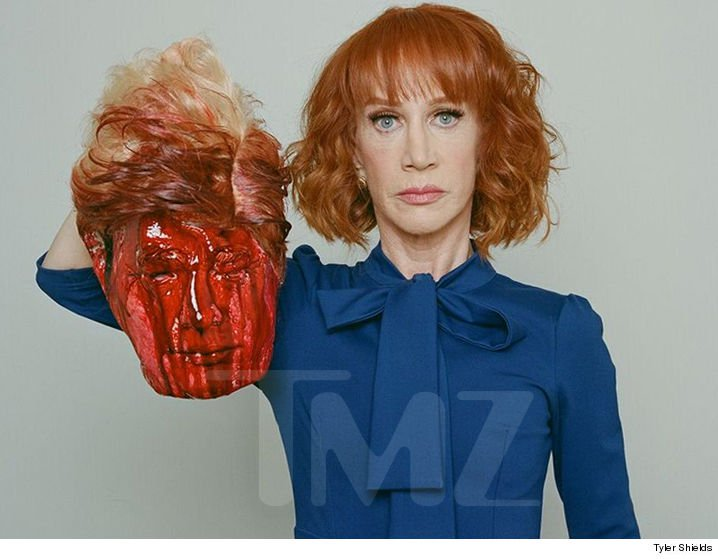 Kathy Griffin Trump's head