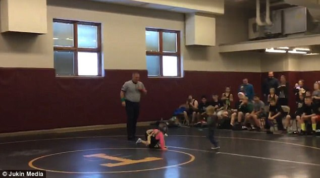Little Brother Thinks His Sister's Wrestling Match Is Real
