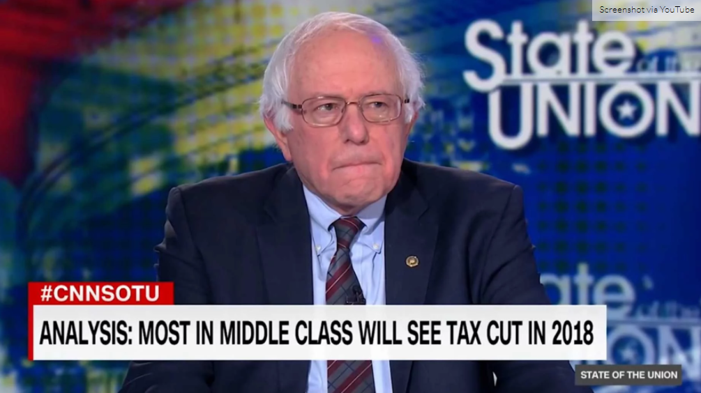 Bernie Sanders Admits Middle Cut Tax Cuts In Tax Reform Are 'A Good Thing' - VIDEO