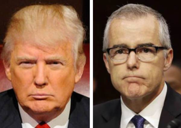 Trump Goes Off On FBI Deputy Director Andrew McCabe