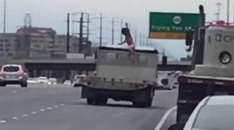 Naked Man In Virginia Rides On Truck