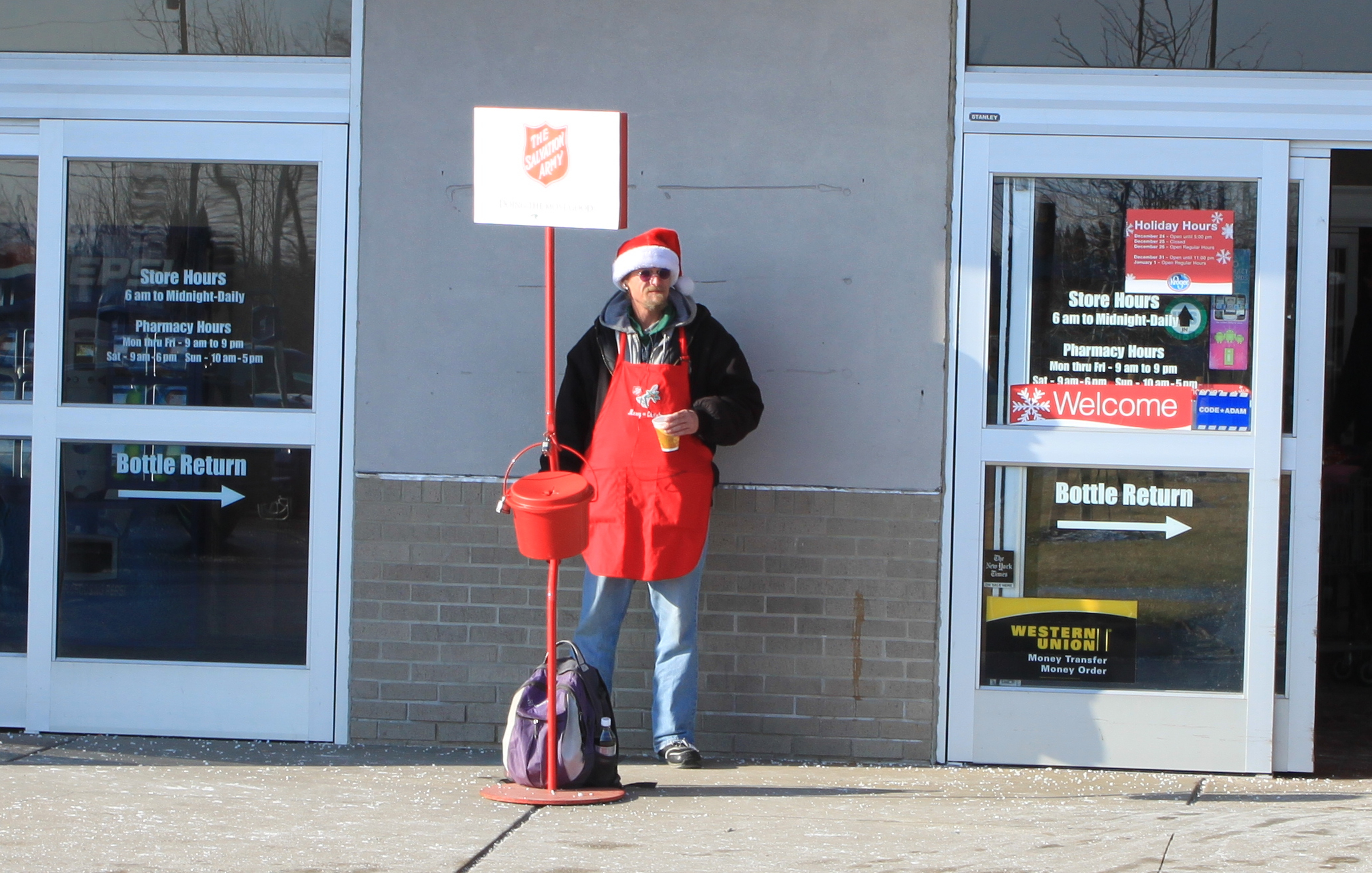 Salvation Army Bell Ringer Beaten Down For Wishing Merry Christmas
