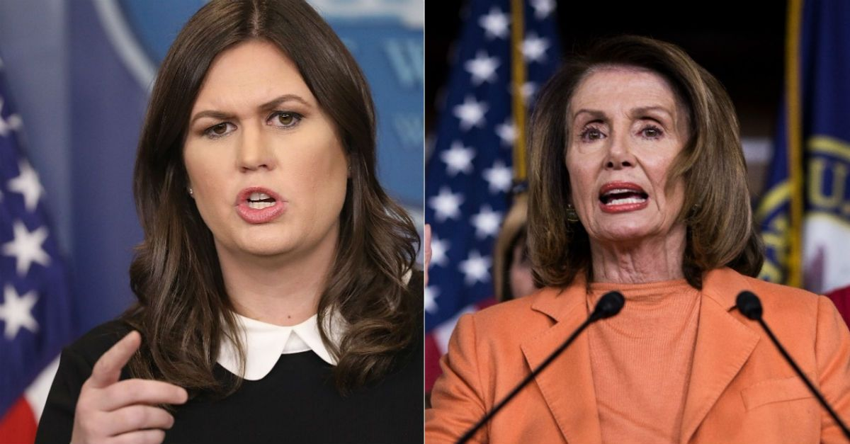 Sarah Huckabee Sanders Makes A Suggestion To Nancy Pelosi