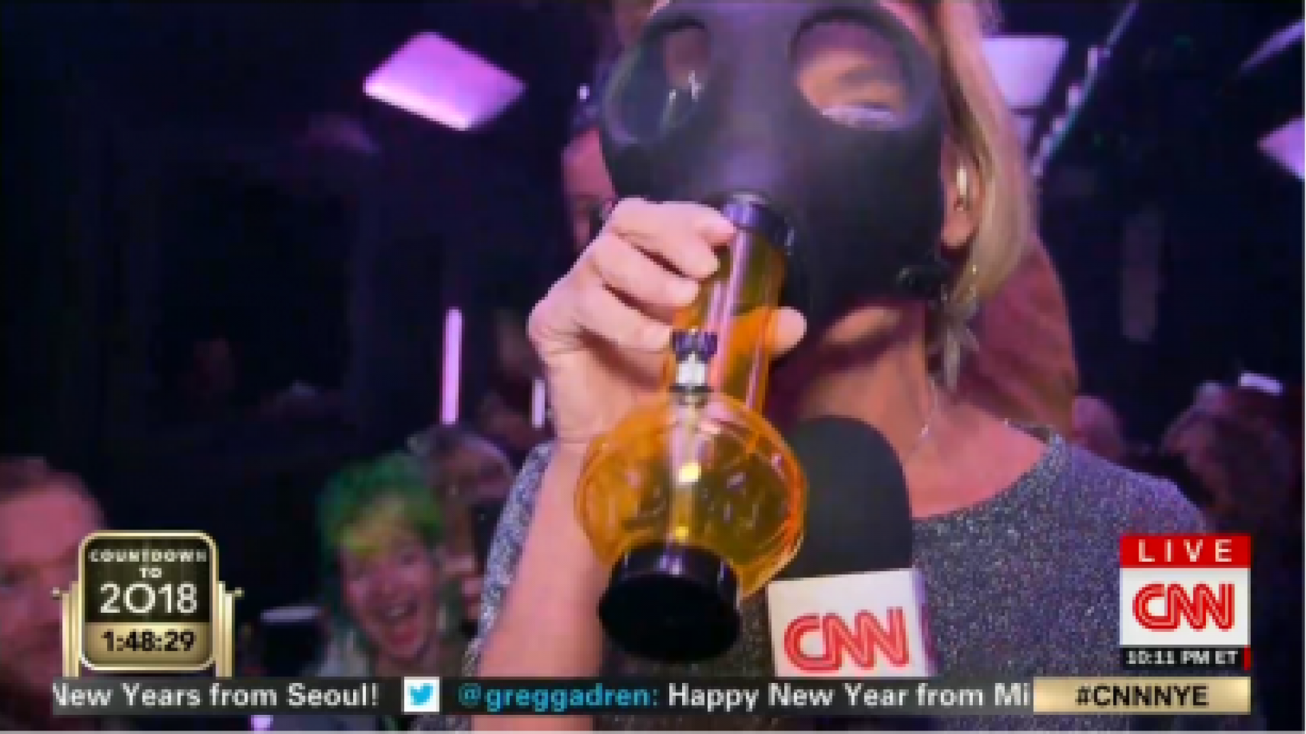 CNN Promotes Smoking Marijuana During New Year's Eve Celebration