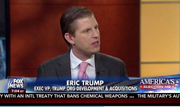 Eric Trump Asked If His Dad Is Racist