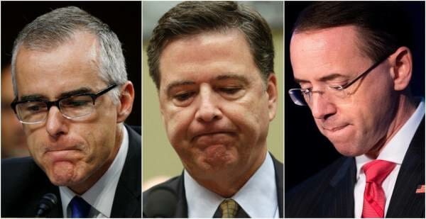 First Leak Of Fisa Memo Officially Names James Comey, Andrew McCabe and Rod Rosenstein
