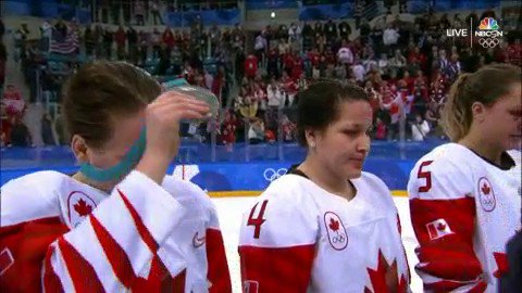 Sore Loser! Canadian Women's Hockey Player Takes Off Silver Medal After Loss
