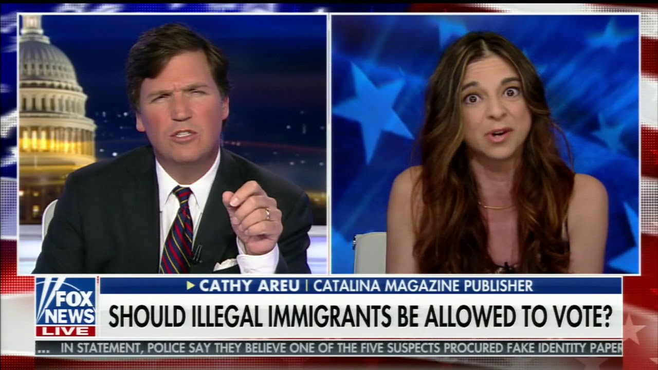 Tucker Carlson Trolls Supporter of Illegal Immigrants Voting in U.S.