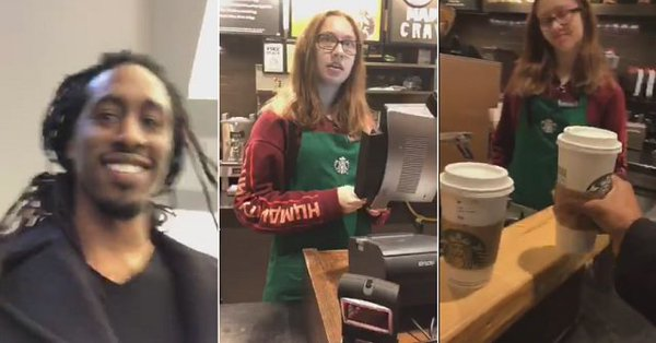 Black Man Walks Into 'Racist' Starbucks and Demands Free Coffee For 'Reparations'