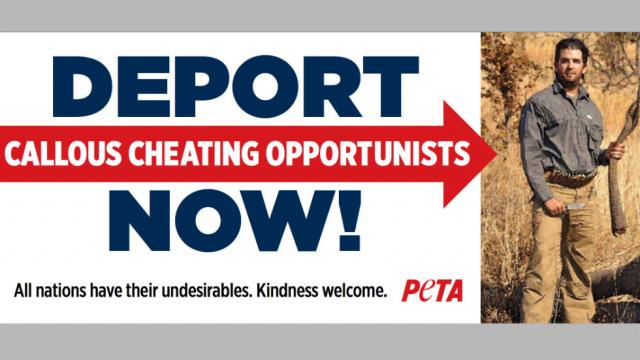 PETA Announces Billboard Campaign Demanding Donald Trump Jr. Be Deported