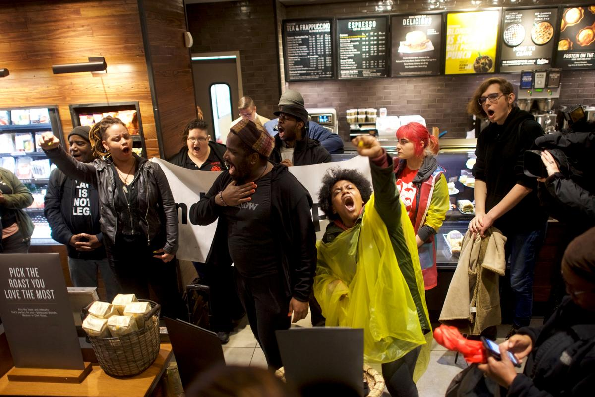 Protests Continue Outside Philadelphia Starbucks
