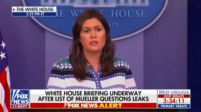 Sarah Sanders Humbles Adam Schiff During Press Briefing