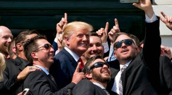 President Trump Points Out the Difference between NASCAR and NFL, Crowd Erupts
