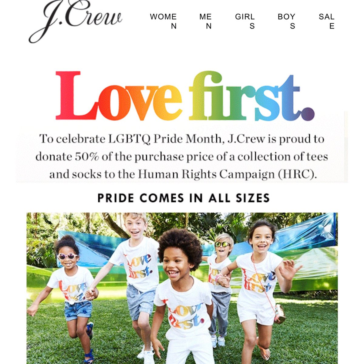 J. Crew Markets Gay Pride Clothing Line to Children