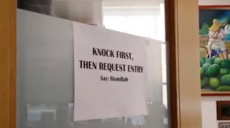 University of Connecticut Professor Forces Students to Praise Allah Before They Can Enter His Office, bismillah