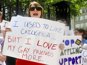 chick-fil-a hates gays