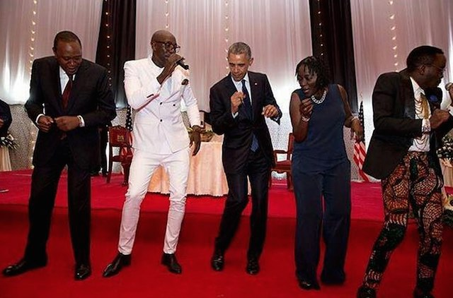 Barack and Michelle Obama Bust Out Embarrassing Dance Moves at Jay-Z Concert