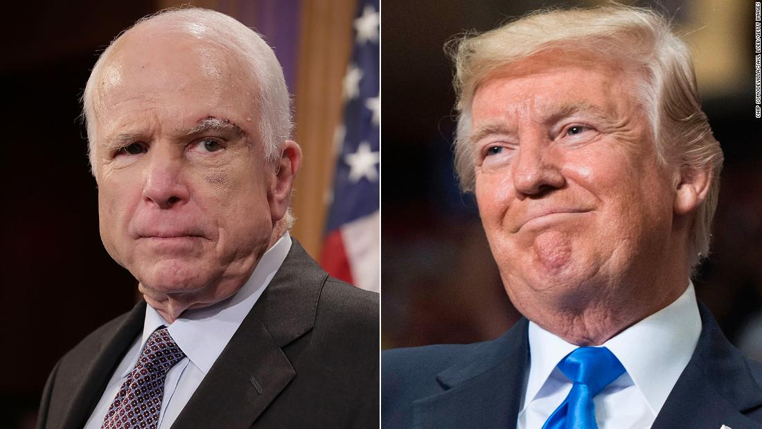 President Trump Responds to Media Attacking Him Over His Handling of McCain's Death
