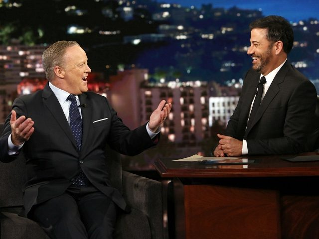 Sean Spicer Schools Jimmy Kimmel on 'Fake News'